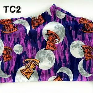 LuLaRoe TC2 Leggings Halloween Bats Moons Camo